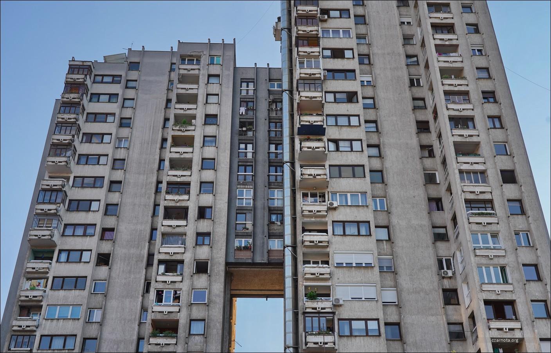Jugosłowiański beton, Serbia, Užice, blok mieszkalny