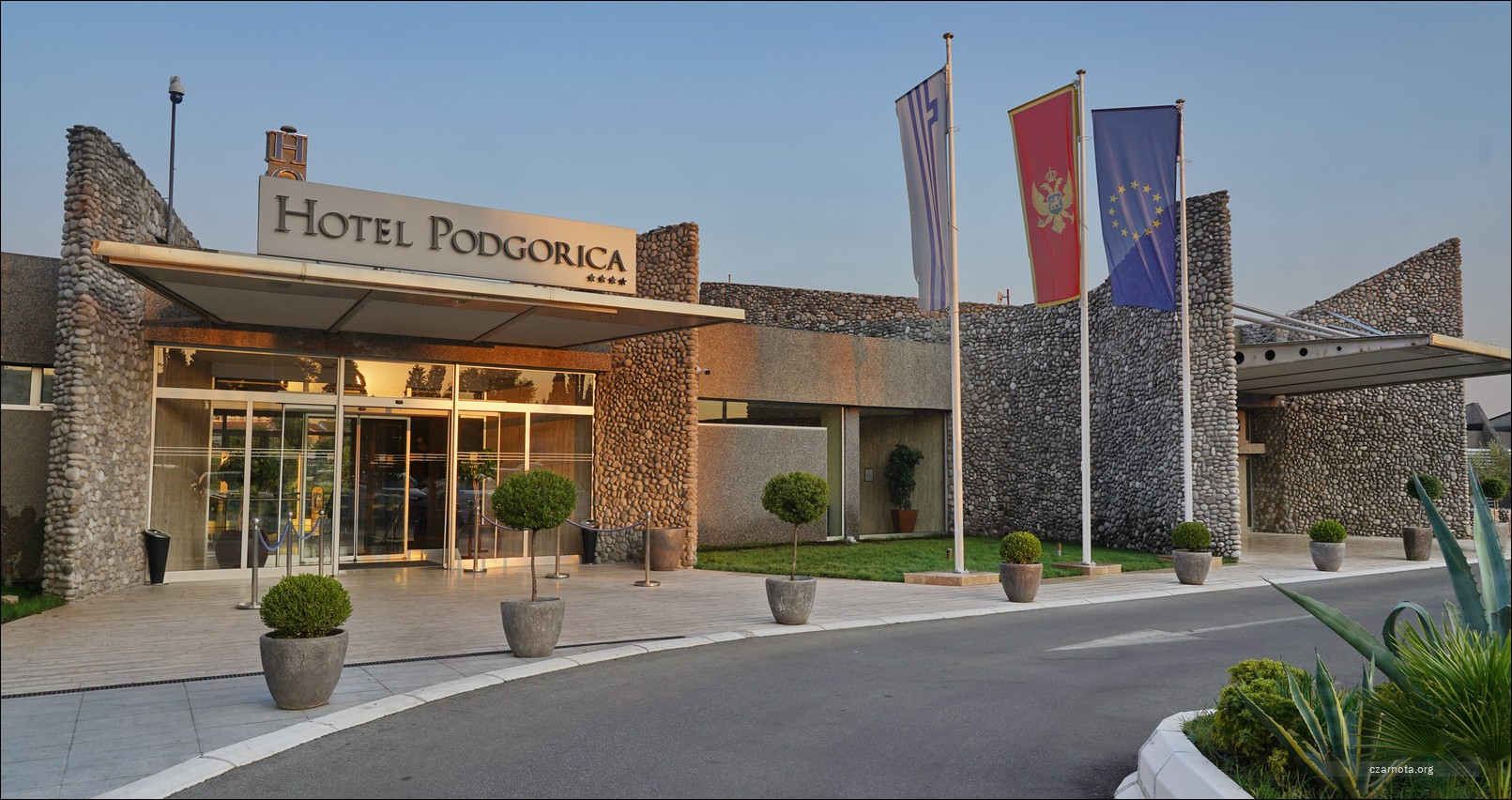 Jugosłowiański beton,  Montenegro, Czarnogoóra, Hotel Podgorica