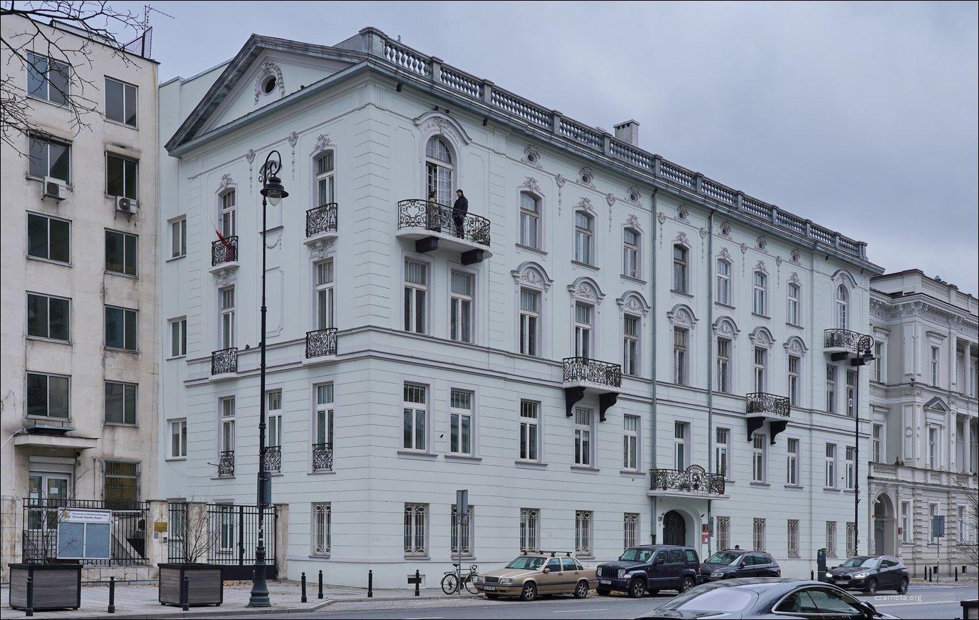Warszawa, Aleje Ujazdowskie 37, 47, 49 w 2008 i 2021