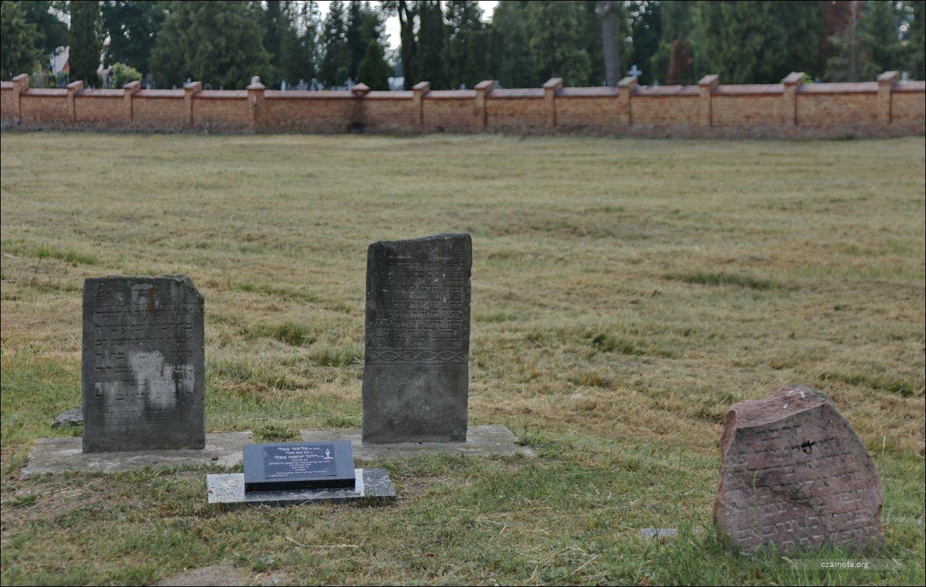 Nowy cmentarz żydowski w Białej Podlaskiej w czasie istnienie getta w Białej i w 2019 roku