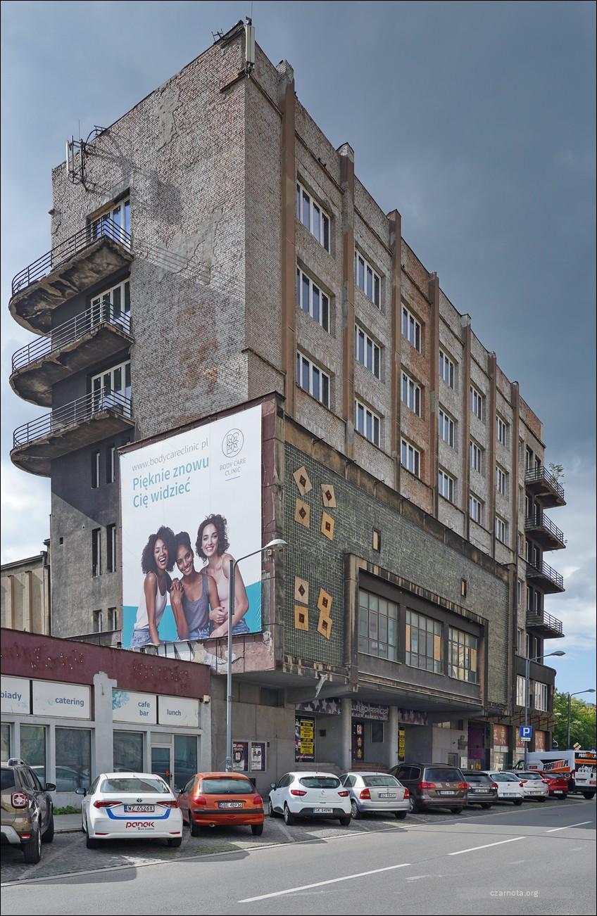 Katowice, ul. Matejki 3, dawny gmach Domu Powstańca Śląskiego w czasie wojny i w 2020