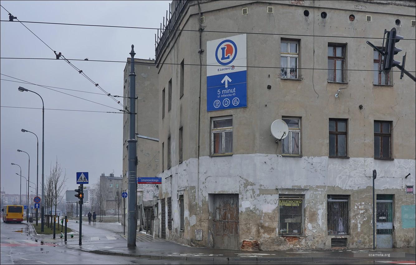 Łódź, narożnik ul Limanowskiego i ul. Zachodnia